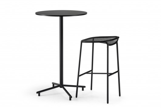 Grille Bar Table and Stool