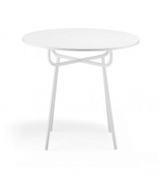 Grille table white 4 leg